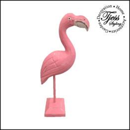 flamingo staand van hout