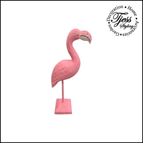 flamingo decoratie hout roze