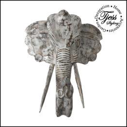 Op zoek naar originele wanddecoratie? Dan is deze olifantenkop wat je zoekt. Een saaie muur of wand wordt omgetoverd tot dé eyecatcher van jouw huis. De houten olifantenkop staat prachtig in de woonkamer of slaapkamer, maar ook in de tuin. De details zijn handgesneden en zorgen voor een unieke uitstraling.